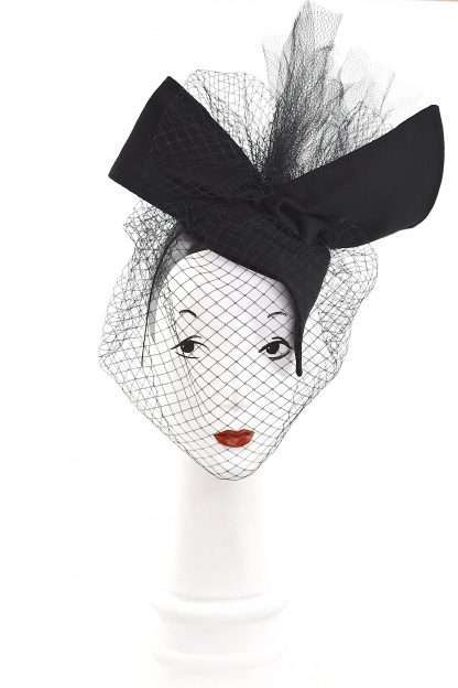 Black Fall couture hat, Headpiece, Avant garde fascinator, High Fashion millinery,Haute Couture