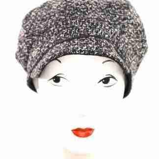 Black and white tweed cap