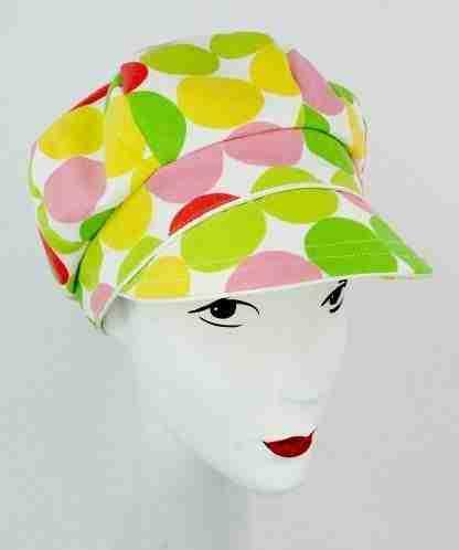 Color polka dot Cap for summer