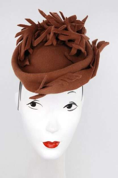 Freeform sculpted wool hat