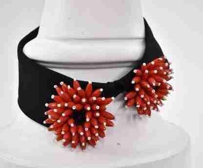 Detachable collar/fake collar/ shirt collar beaded flowers