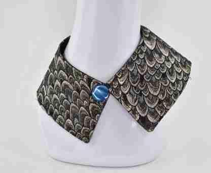 Detachable collar/fake collar/ shirt collar - metallic