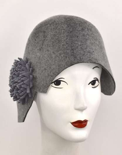 Gray cloche style with detail