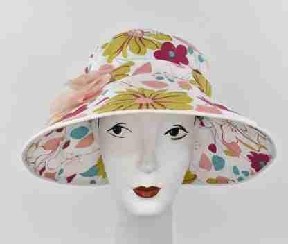 Large brim Floral garden hat