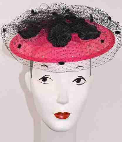 Pink saucer headpiece