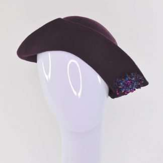 Purple cloche style with sequins detail