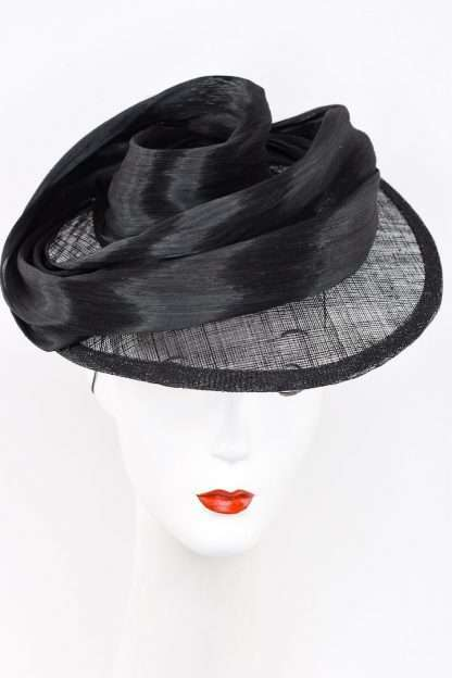 Sculpted silk abaca headpiece for ascot/derby/event