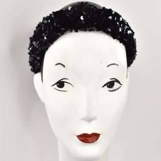 Sequins headband Black