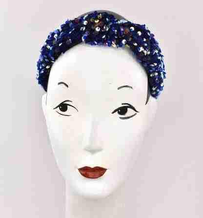 Sequins headband - blu