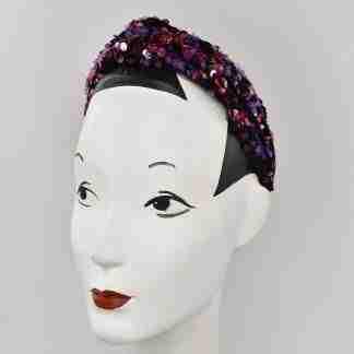 Sequins headband - red/purple mix