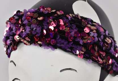 Sequins headband - red/purple mix