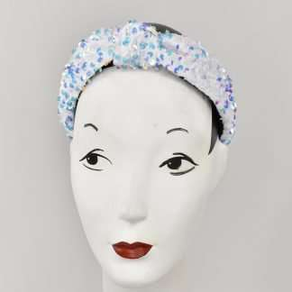 Sequins headband - white mix