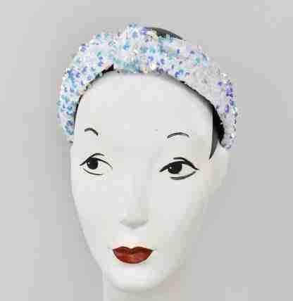 Sequins headband - white mix