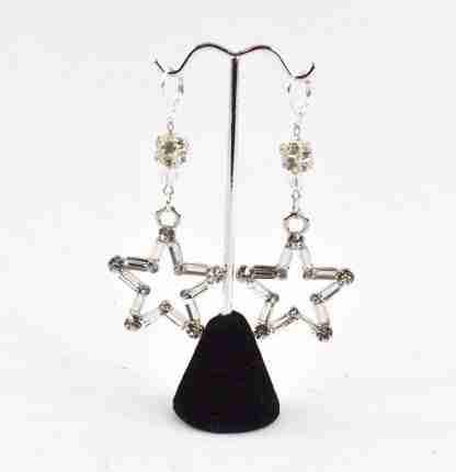 Star spangled bling bling drop earrings