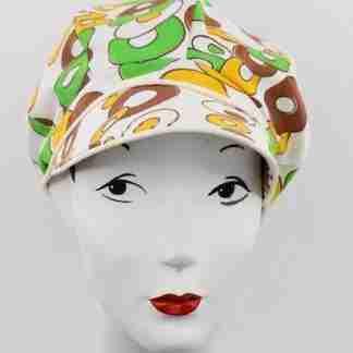 Vintage mod print cap