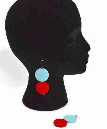 handmade earrings,circle earrings