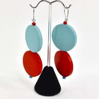 handmade earrings,circle earrings