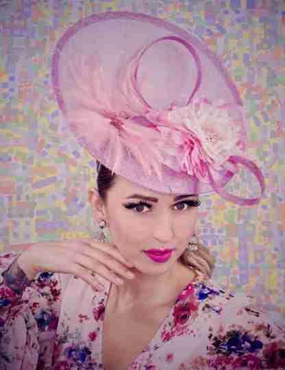 pink racing hat