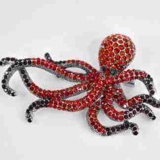 red octopus brooch